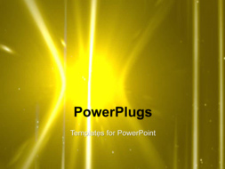 PowerPoint Template - Star, sun with lens flare.